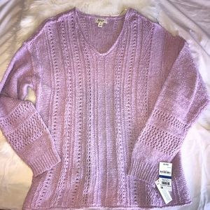 Style & Co. Lavender Sweater NWT